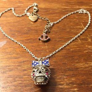 Betsey Johnson sugar skull necklace
